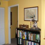 Full array of healing books, here as well as in the library.  This passage also leads to the private bathroom on the left, and the library door visible here.